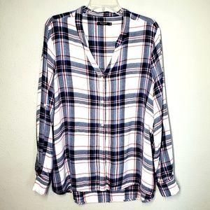 Max Jean's plus size plaid button down shirt 1X